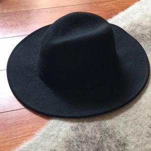 Black wool felt Panama hat